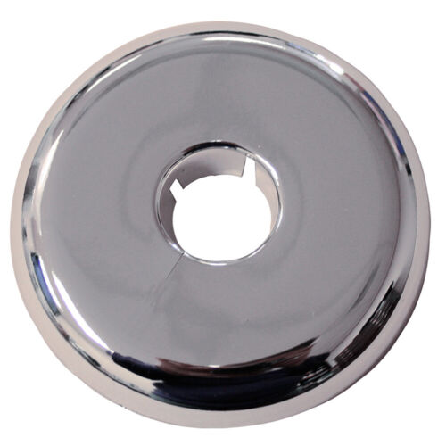 """Pack 12, Chrome Plated Plastic 4"""" IPS 6.781 Flange OD Flexible Floor and Ceiling"""
