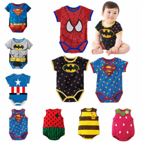1pc Baby clothes newborn infant baby boys girls cotton summer jumpers cartoon