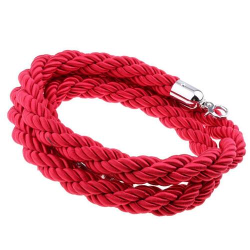 1.5 Stanchion ROPES Red for Control Post Rope Crowd Velvet Queue Line Barrier