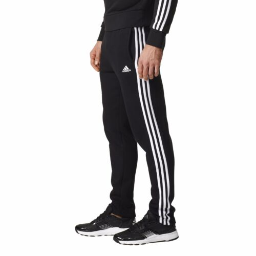 adidas essentials 3 stripes tapered pant ft cuffed