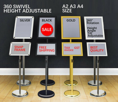 NEW A2 A3 A4 Floor Poster Stand Foyer Pedestal Sign Holder Business Menu Display <br/> commercial-grade, 10,000 unit sold, Tax invoice GST
