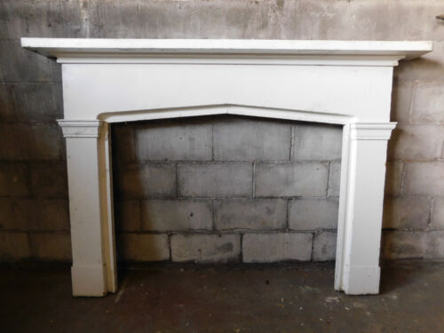 Antique Italianate Style Fireplace Mantel - C. 1860 Fir Architectural Salvage
