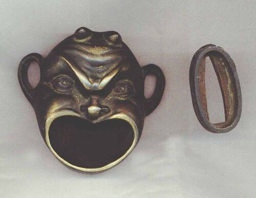 Antique Chinese Bronze Fierce Face Incense Burner... or, small Ashtray