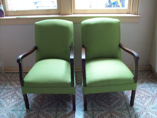 Two Green Art Dec o Lounge Chairs