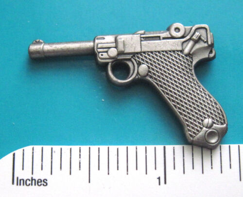 9mm luger  pistol - hat pin ,  lapel pin , tie tac , hatpin GIFT BOXED Other Militaria - 135