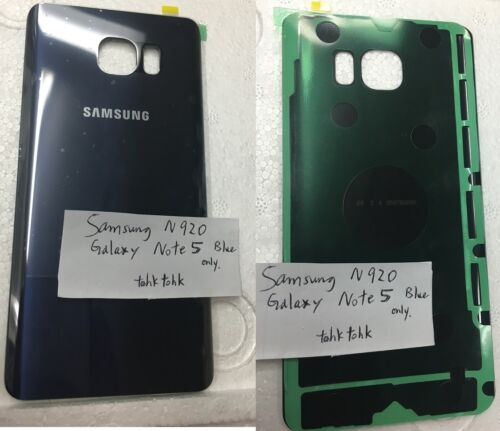 Original Back Glass Cover Battery Housing for Samsung Galaxy Note 5 N920 blue