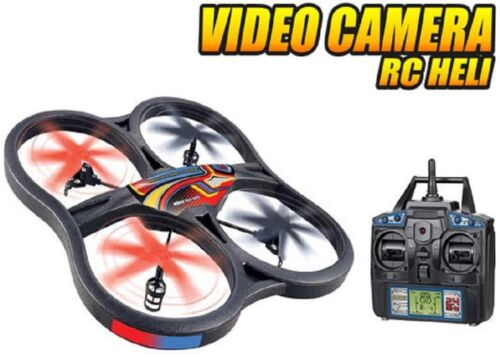 World Tech Large Panther Spy Drone UFO Video Camera 2.4GHz RC Quadcopter Plane
