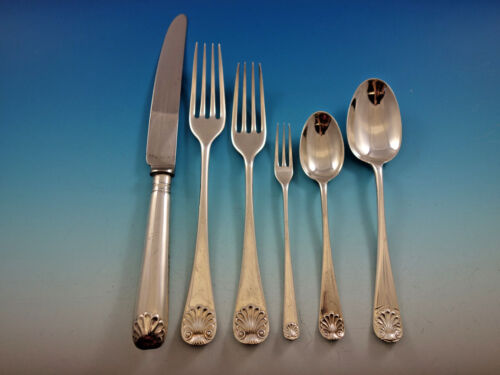 English Shell by James Robinson Sterling Silver Flatware Dinner Set 24 pieces