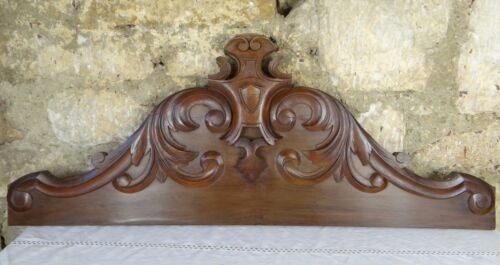 "32.5"" Antique French Carved Walnut Pediment/Fronton - 2 Pieces of the same Model"