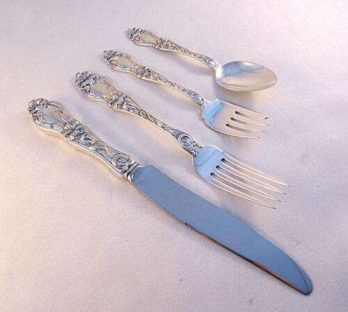 Lily Floral-Frank Whiting Sterling 4PC Dinner Size Place Setting(s)