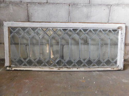 Antique Craftsman Style Leaded Beveled Glass Window - 1910 Architectural Salvage