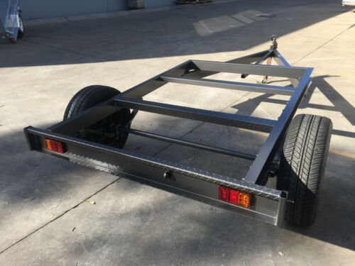 Brand new Tray top Trailer chassis SUIT  8X6FT TRAY BRAKED HEAVY DUTY 1450KG ATM