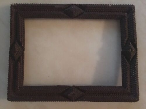 Antique Tramp Art Wood Chip Picture Frame