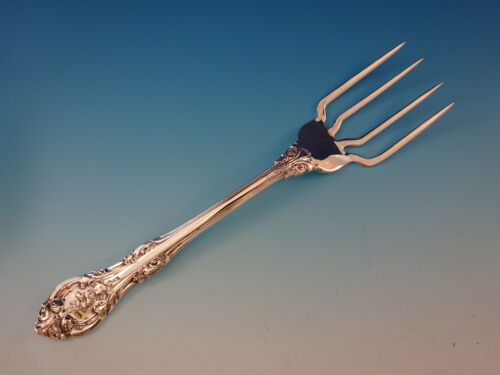 "King Edward by Gorham Sterling Silver BBQ Serving Fork 7 5/8"" Custom Made"