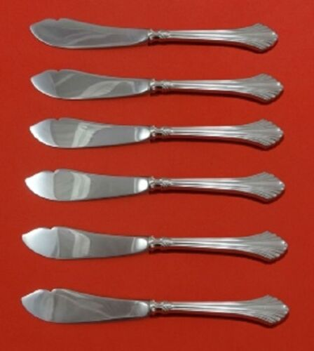 French Regency By Wallace Sterling Silver Trout Knife 6-Pc HHWS Custom