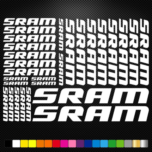 Sram 26 Stickers Autocollants Adhésifs - Vtt Velo Mountain Bike Dh Freeride