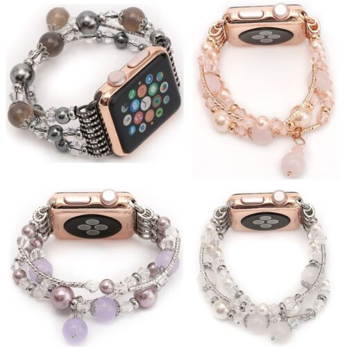 Bling Agate Beads Strap Bracelet Band for Apple Watch iWatch 3/2/1 42mm 38mm US