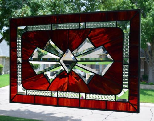 "Stained Glass Window Panel ""Bow Bevel"""