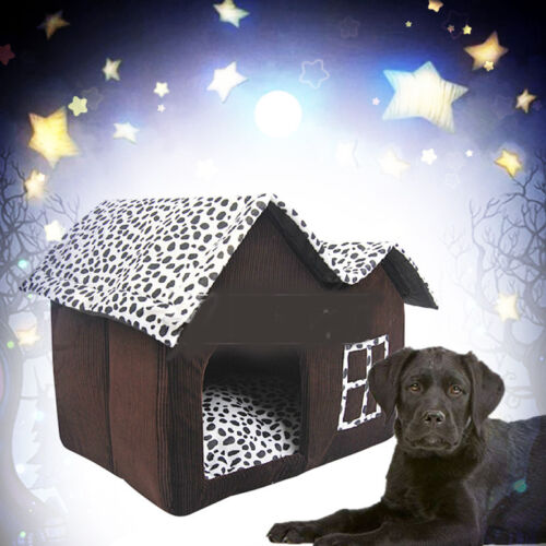 Washable Indoor Pet Dog House Cage Bed Kennel Puppy Cat Cabin Cushion Mat Pad