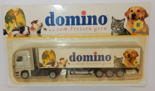 GRELL HO 1/87 CAMION REMORQUE TRUCK TRAILER MB ACTROS DOMINO NOURRITURE ANIMAUX