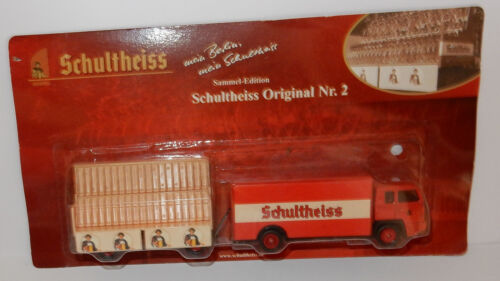 GRELL HO 1/87 CAMION REMORQUE TRUCK BUSSING BS 19 TRAILER VELOS SCHULTHEISS BEER