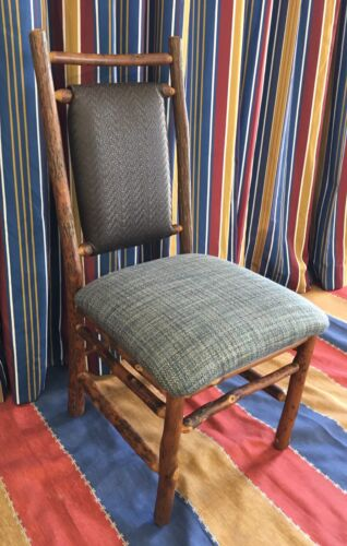 2 Old Hickory Furniture Original Dining Chair Blue Wilderness Lodge Disney Prop
