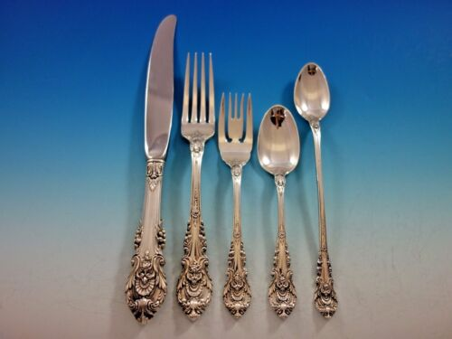 Sir Christopher by Wallace Sterling Silver Flatware Set Service 40 Pieces Dinner