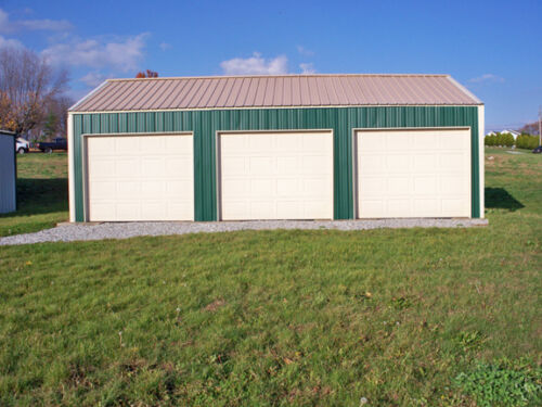GALVANIZED STEEL INSULATED 3-CAR GARAGE - METAL BUILDING - Shop KIT  <br/> All New Materials- Any Colors -FREE SHIPPING extended !