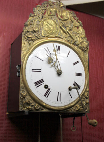 Antique French Big Clock Comtoise 2 Weight Chime clock *****Repeat the sound***