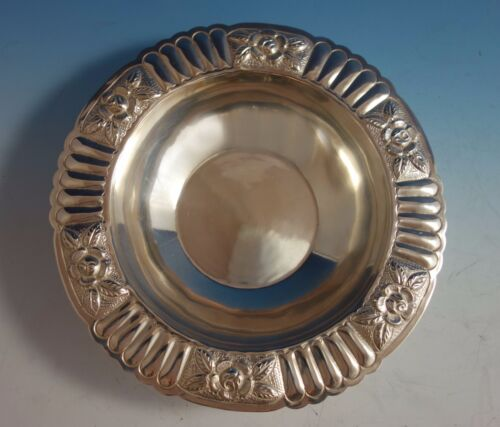 Aztec Rose by Maciel Mexican Mexico Sterling Silver Fruit Bowl #5838-6 (#1777)