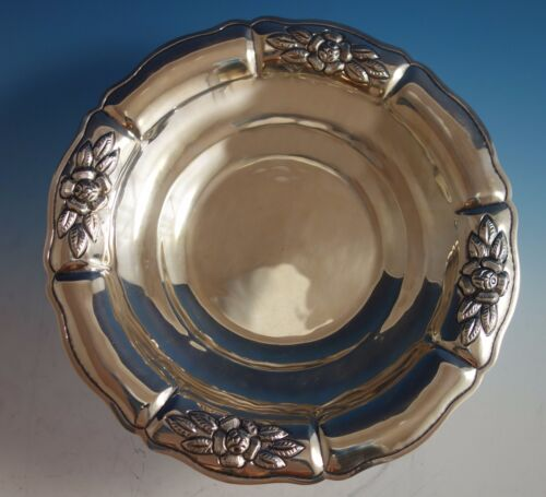 Aztec Rose by Maciel Mexican Mexico Sterling Silver Fruit Bowl #2208/8 (#1784)