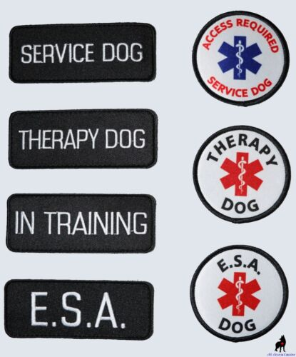 ALL ACCESS CANINE™ Support Animal ESA Dog - Service Dog - Therapy Dog Patches <br/> ✅ MIX & MATCH PATCHES ✅ US SELLER ✅ ADA CARDS ✅ TRUSTED