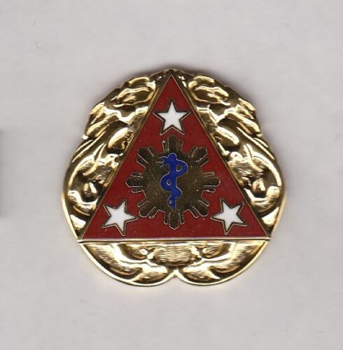 US ARMY MEDICAL 3rd SURGICAL HOSPITAL crest DUI badge c/b G-23Army - 66529