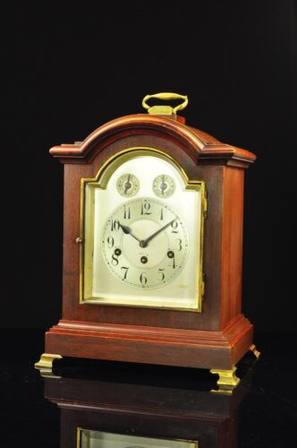 Antique German Junghans 8 Day Bracket Clock with Westminster Chime approx. 1910