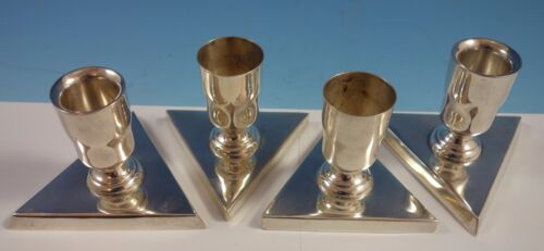 Sanborns Mexican Mexico Sterling Silver Candlestick Set 4pc (#1958) Modernist