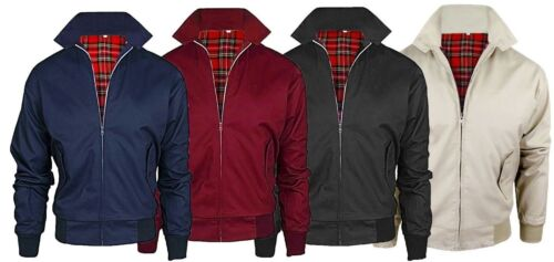 Mens Harrington Jacket Classic Retro Slim Fit Zipper Vintage Bomber MA1 Coat TOP <br/> Winter Summer Biker Jacket Work Top Jumper S M L XL 2XL