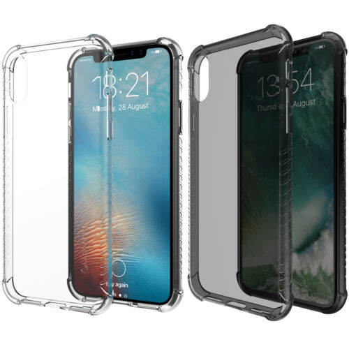 Luvvitt Clear Grip Flexible Slim Shock Proof TPU Rubber Case for Apple iPhone X