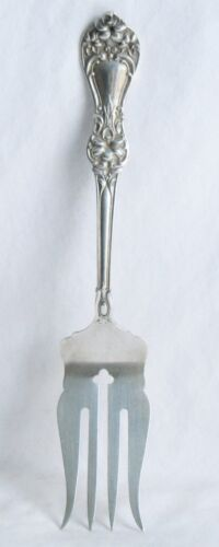 Floral Baker Manchester Sterling Silver Cold Meat Fork –no mono