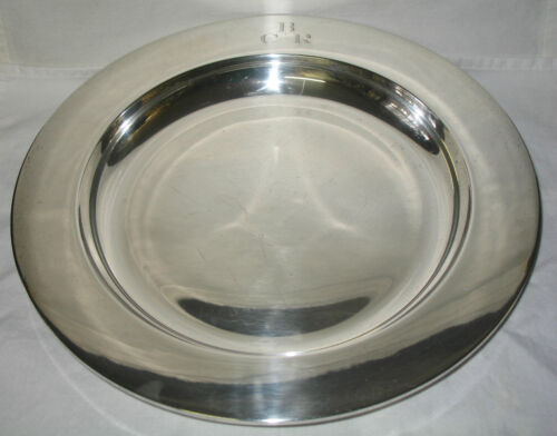 Tuttle Sterling Silver Serving Bowl Charger Platter John Coburn Reproduction