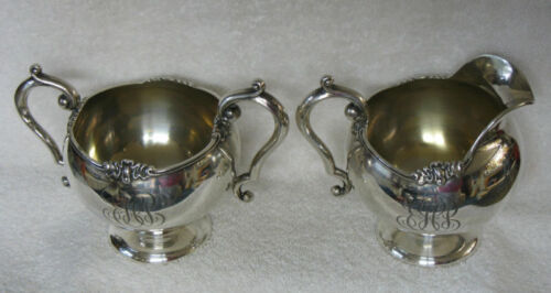 George Shiebler Sterling Silver Creamer and matching Sugar Pot