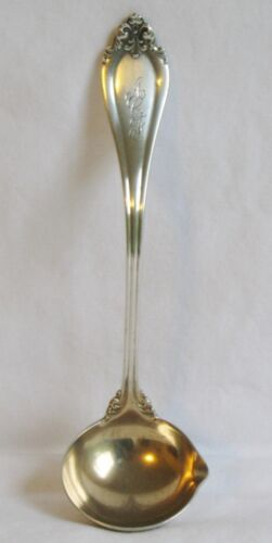 La Perle Reed & Barton Sterling Silver Sauce Ladle Gold Washed w/ Spout