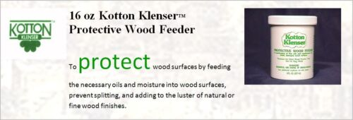 HOME RENTAL RESTORATION KOTTON KLENSER ANTIQUE WOOD FEEDER RESTORING OILS 16 OZ
