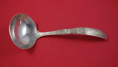 """Saint Dunstan Chased Gold by Gorham Sterling Silver Gravy Ladle 7"""""""