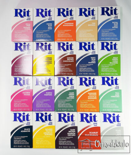 RIT - All Purpose Fabric Dye Powder - 31.9g Packs - Discounts for Multiple items <br/> -- 20 Colours to Choose From --