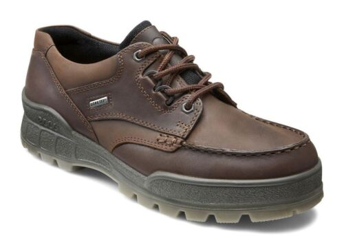 Ecco TRACK II LOW Lace Up Bison Leather Waterproof Gore Tex Comfort Oxford Shoes