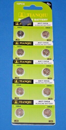 10 Pc's Watch Batteries  AG7  395  LR927 FREE SHIPPING Expires 2020