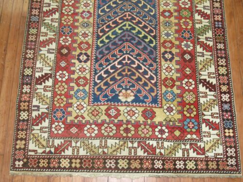 Antique Gorgeous Caucasian Shirvan Kazak Kuba Talish Rug Size 3'9''x4'10''