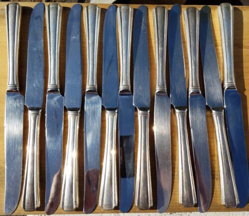 ESTATE STERLING WESTMORLAND JOHN & PRISCILLA HOLLOW KNIFE SET-13-PIECES-NO MONOS
