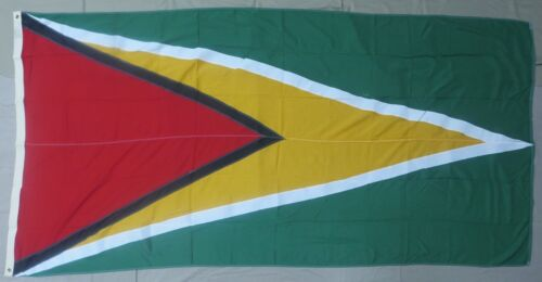 Large GUYANA FLAG 1980s Vintage US Government Issue for Military Bases & EmbassyOther Militaria - 135