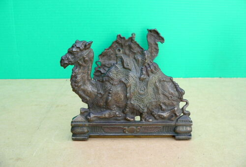 1920s Egyptian Revival Judd CAMEL Expandable Book Rack bookends bookrack
